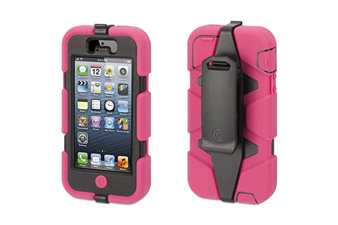 uk availability 6dcb0 e12db Griffin Survivor All-Terrain Rugged Case for iPhone 5/5S, iPhone SE,  Pink/Black