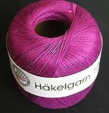 Grundl 813-133 Hakelgarn Pelote de fil à crocheter Violet 100 g