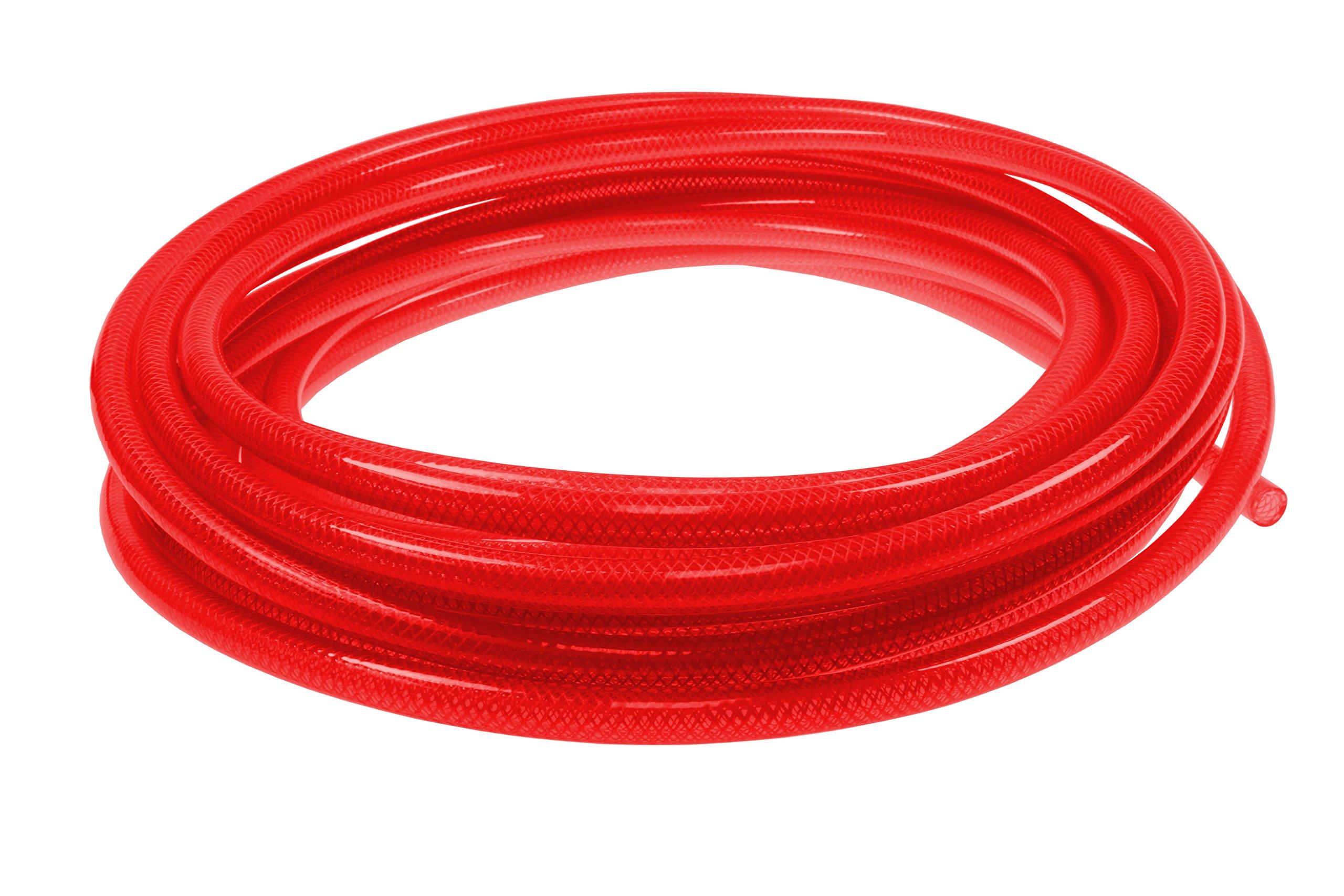 Coilhose Pneumatics PFE4100TR Flexeel Reinforced Polyurethane Air Hose, 1/4'' ID, 100' Length, No Fittings, Transparent Red, Polyurethane
