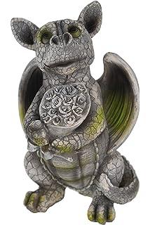 Freches Drachenkind streckt Zunge raus Drache Drachen Figur Gartenfigur Garten
