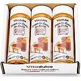 Sirope de dulce de leche sin azúcar, Topping de dulce de leche, Sirope bajo en calorías 400 gr. Pack de 3 unidades…