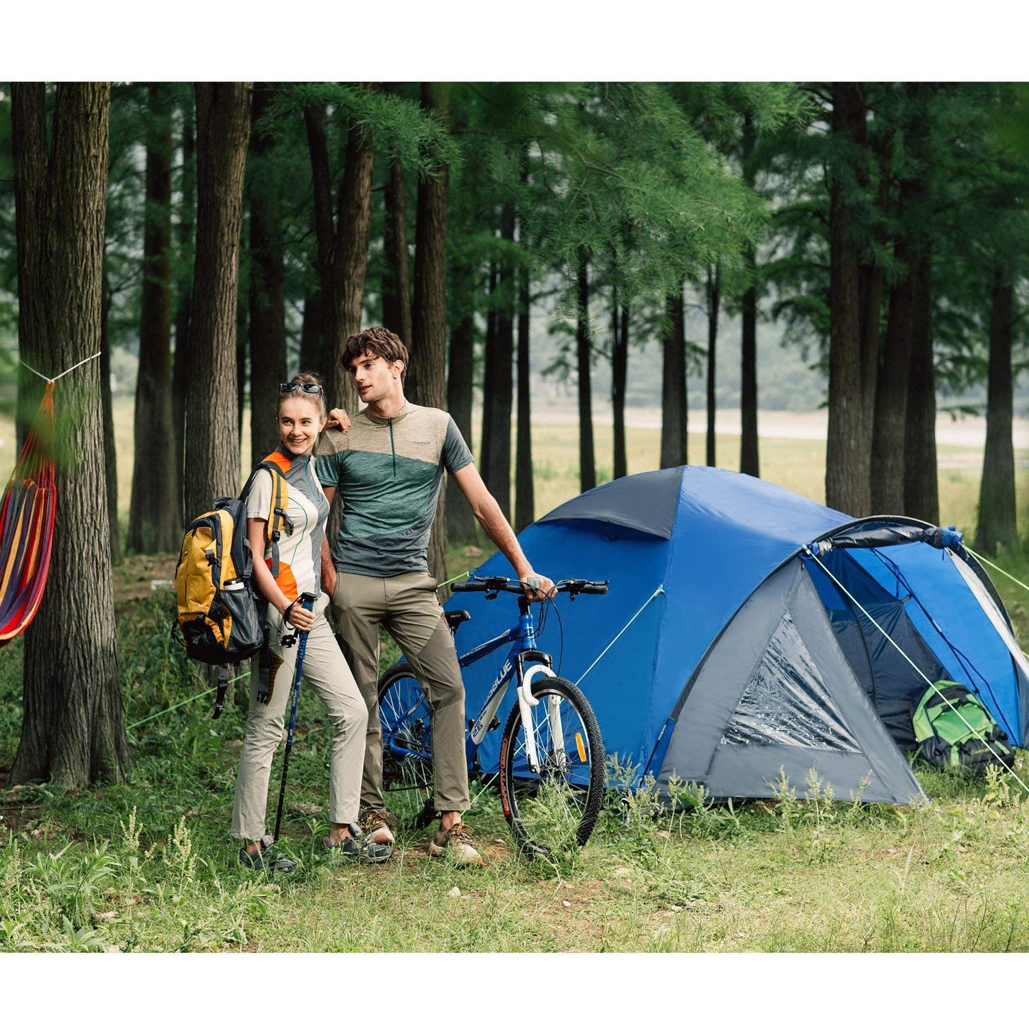 Lightweight to Carry with Carry Bag Semoo Waterproof 3 Seasons Family Camp Tent 2-3 People Double Layers