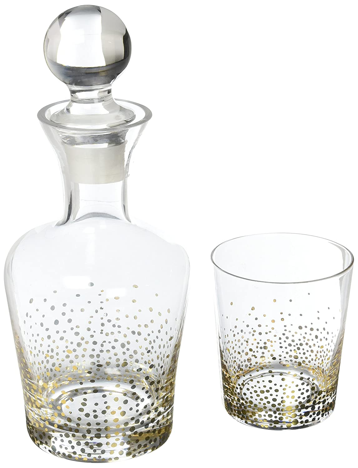 Fitz and Floyd 206701-5N Luster Decanter Set, Gold