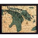 Amazon com: Lake Kerr and Little Lake Kerr - Marion County - FL - 2D