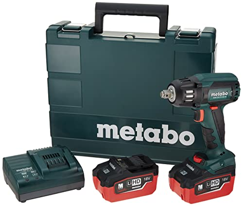 Metabo 18V Brushless 1 2 Sq.Impact Wrench 5.5Ah Kit