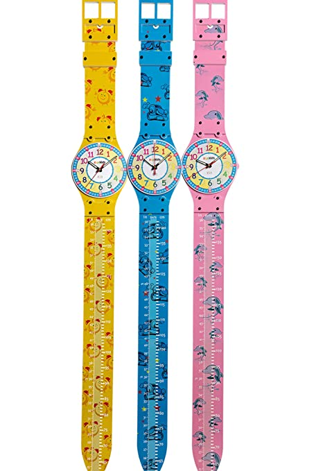 Amazon Creative Kids Growth Chart With Teaching Clock By Zyx