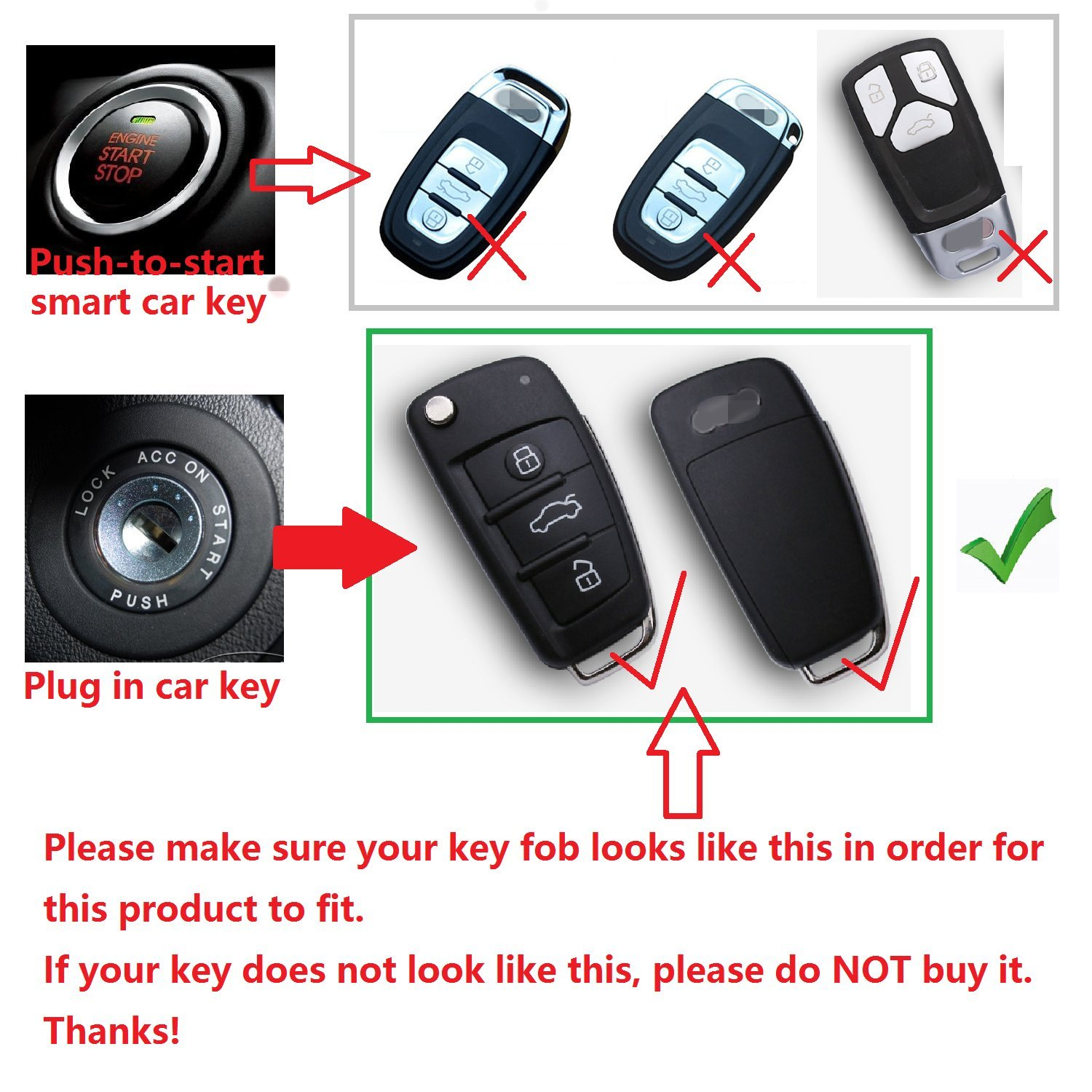 Black Round Keychain M.JVisun Soft Silicone Rubber With Carbon Fiber Texture Pattern Cover Protector For Audi Key Fob Car Keyless Entry Remote Key Fob Case For Audi A1 A3 S3 Q3 Q7 R8 TT Fob Key