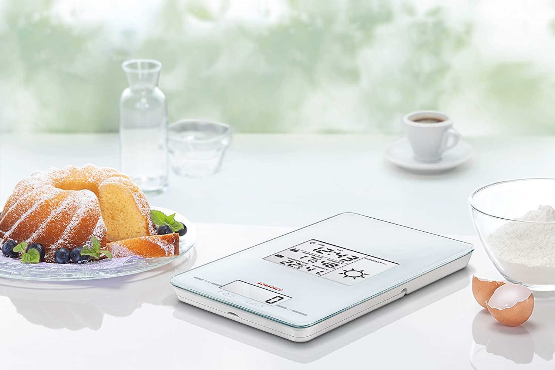Verre Soehnle 66223 Balance de Cuisine 26 cm Blanc