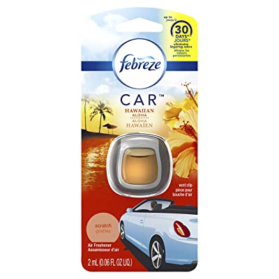 Febreze Air Freshener, Car Vent Clip Air Freshener, Hawaiian Aloha Air Freshener, Orange: Health & Personal Care