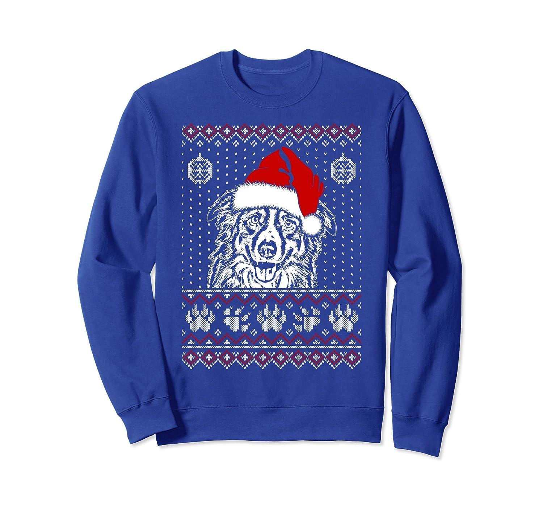 Border Collie Lover Christmas Sweatshirt Birthday Gift-ah my shirt one gift