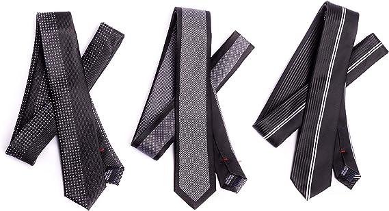 OfficePunk Corbata negra y fina - BE BLACK - 3 corbatas de alta ...