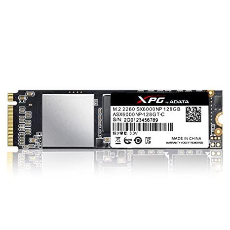 XPG SX6000 128GB M.2 PCI Express 3.0 - Disco Duro sólido (128 GB, M.2, PCI Express 3.0, 1000 MB/s)