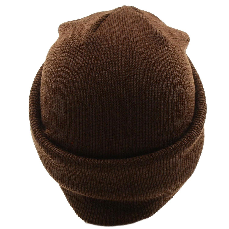 56a59d64db9 Winter 2 in 1 Beanie Visor Skull Cap Hat Ski Snow Board Zipper Face Mask  Brown at Amazon Men s Clothing store  Balaclavas Headwear