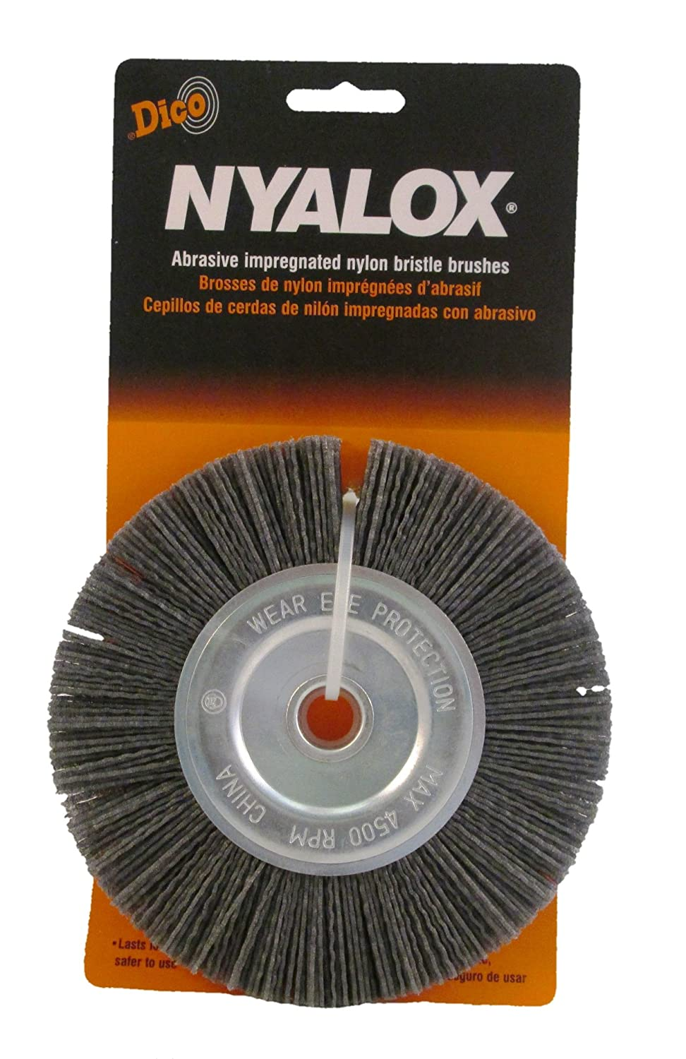 Dico 541 746 6 Nyalox Bench Brush 6 Inch Grey 80 Grit