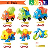 Take Apart Toys With Tools, Dinosaur Car Toys STEM Learning (153 pieces), Educational Construction Engineering Building Play Set Creative Fun Kit Best Toy Gift for Kids Ages 3yr - 6yr 3 Years and Up