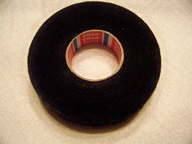 Tesa Black Fuzzy Fleece Interior Wire Loom Harness Tape for VW, Audi, Mercedes, BMW 19 mm X 15 meters