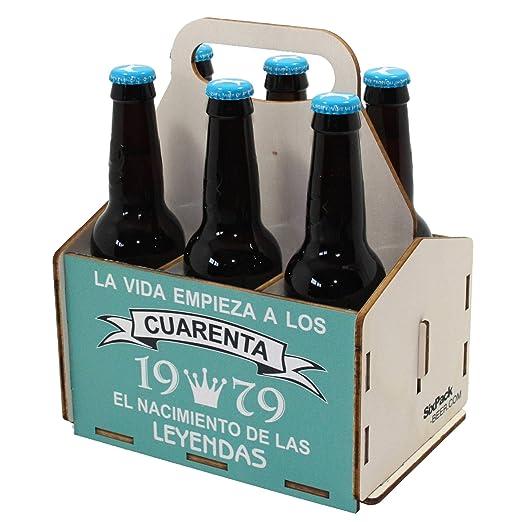 Portacervezas de madera, paquete de seis cervezas, caja ...