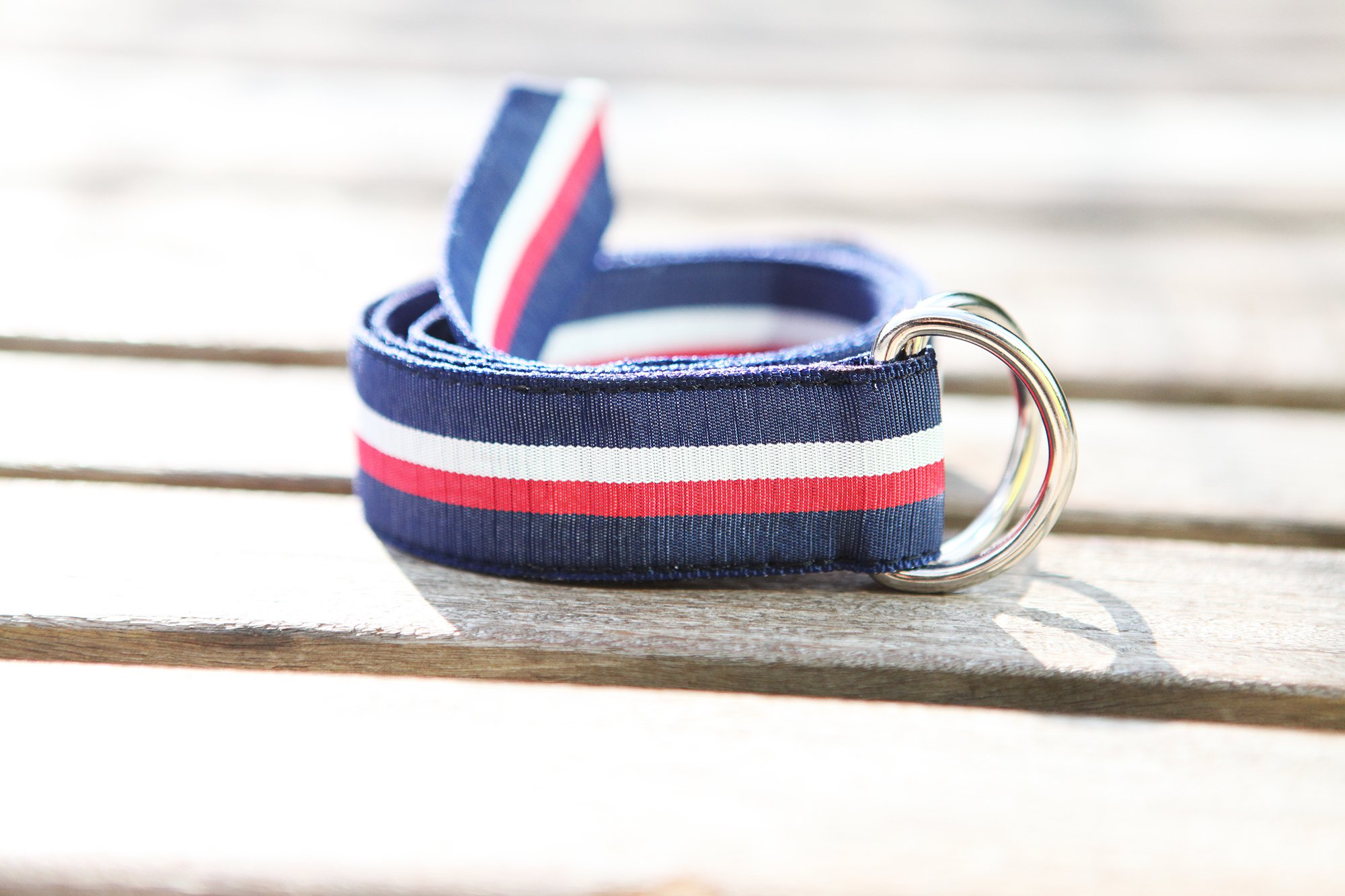 F.H. Wadsworth Grosgrain Ribbon D-Ring Belt (X-Small, Selvedge) by F.H. Wadsworth (Image #2)