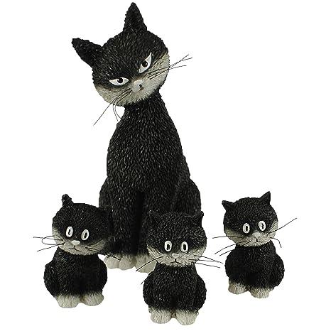 Parastone Colección de gatos Dubout: juego de figuras madre gato con su tres