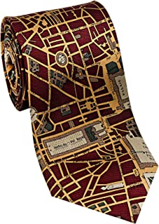 product image for Josh Bach Men's CIVITAS Map of Paris Silk Necktie, Made in USA