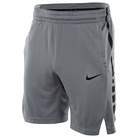a9b11367b586f Nike Mens Elite Stripe Basketball Shorts Cool Grey Black 831390-065 Size  Small