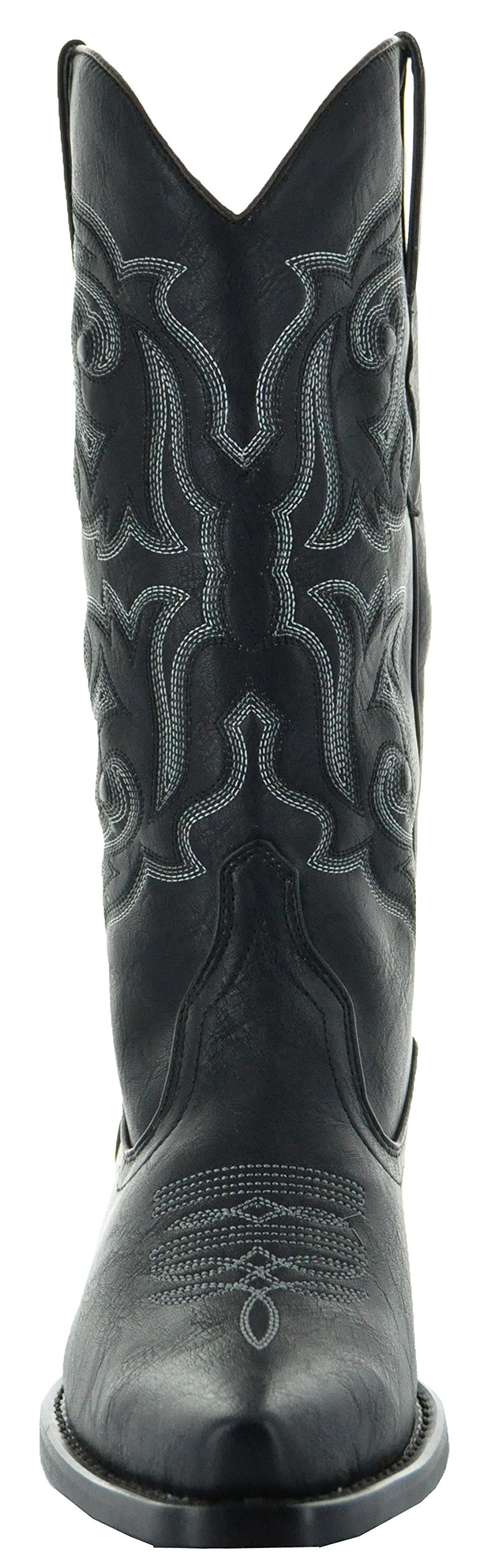 Country Love Pointed Toe Women's Cowboy Boots W101-1001 (7, Black) by Country Love Boots (Image #4)