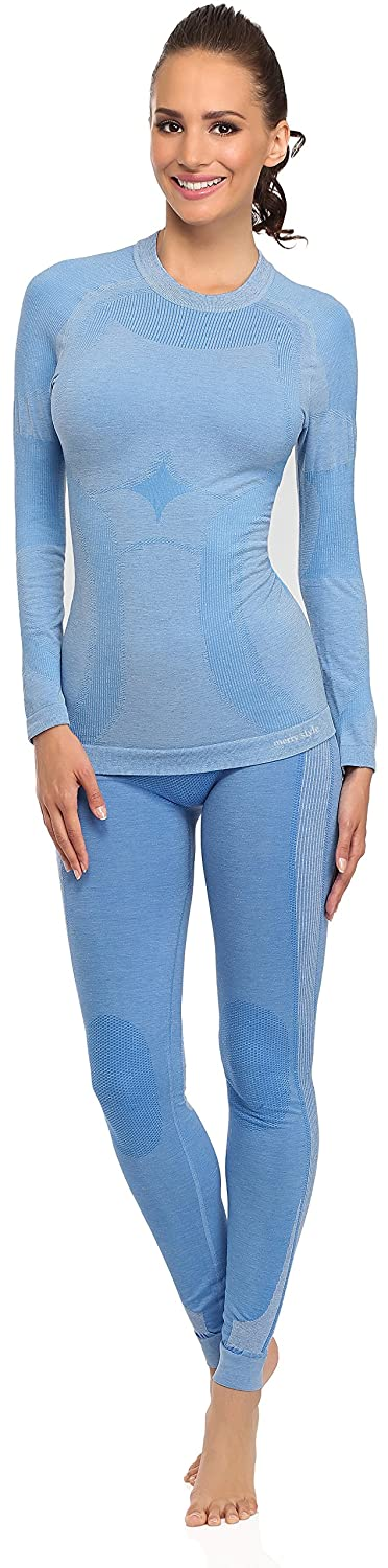 Merry Style Women's Functional Thermo Active Underwear Long Johns Plus Long Sleeve Shirt 06 110w 120w