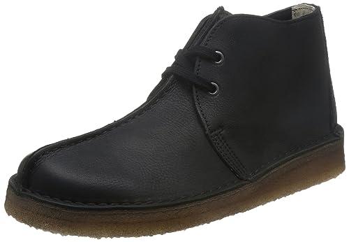 Clarks Originals Desert Trek Hi - Black Leather Mens Boots 7.5 UK