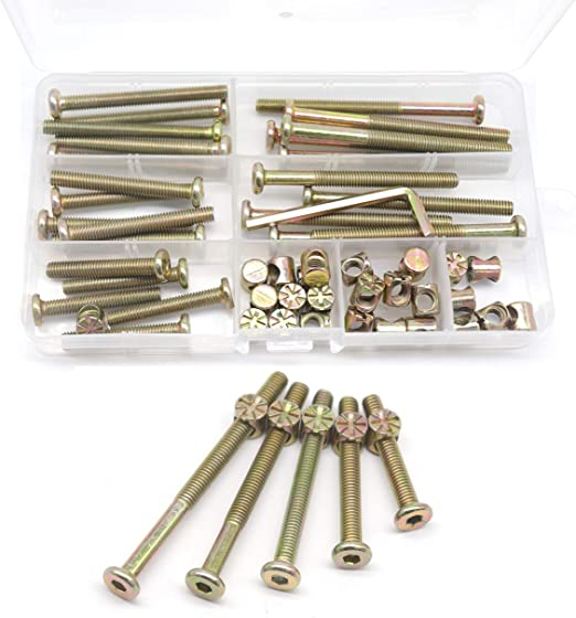 Screw and Nut Set for Home Simple to Use Insert Nut Long Service Life Screw Kit