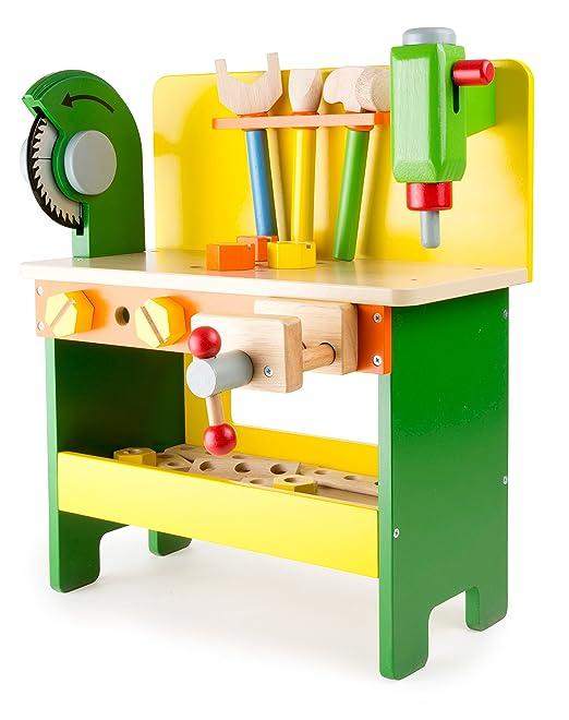 Werkbank aus Holz ab 3 Jahren, verschiedene Holzspielzeuge inkl ...
