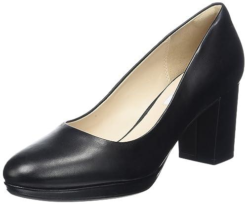 Kelda Hope, Zapatos de Tacón Mujer, Negro (Black INT Suede), 41 EU Clarks