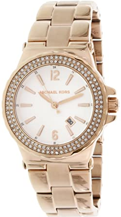 71a04edb0b02 Image Unavailable. Image not available for. Color  Michael Kors Women s Ritz  MK5921 Rose Gold Stainless-Steel ...