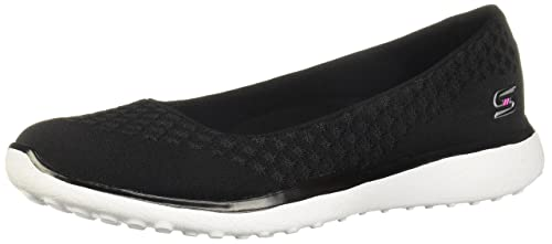 No lo hagas Contracción colegio  Skechers Microburst One Up Womens Slip On Skimmer Sneakers Black ...