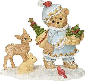 "Roman Cherished Teddies, Inga Laplander Teddy Bear Figure, 4"" H, Resin and Wollastonite, Durable, Collectible Decoration, Decorative, Home Decor"