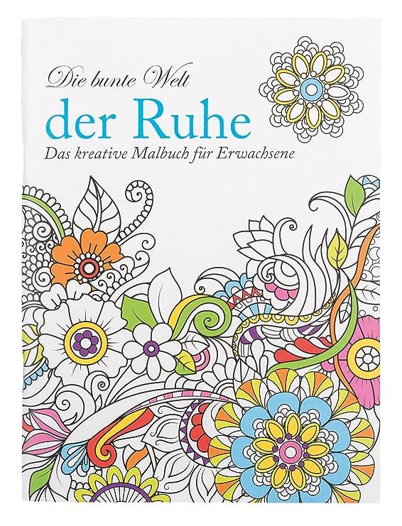 Idena 68147 - Malbuch für Erwachsene, Motiv Ruhe, inklusive 12 ...