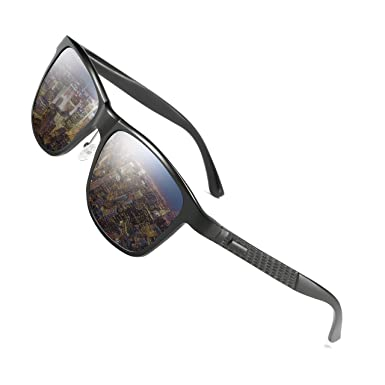 Hat Panda Polarized Driving Wayfarer Sunglasses Sport Al-Mg Metal Frame Ultra Light (Blau) XvcHY