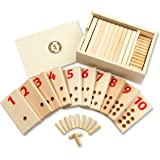 WolvesWoodWorks 1-10 Peg Number Boards-Montessori Materials for Toddlers-Educational Counting, Preschool Early Learning Toy for 3,4,5,6 Years Old Boys &Girls
