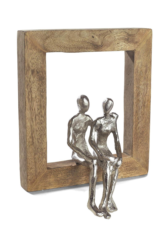 Moritz Skulptur Rahmen Gemeinsam was kommt Mangoholz Alu massiver Mangoholz - Rahmen Handarbeit 22,5 x 25 cm