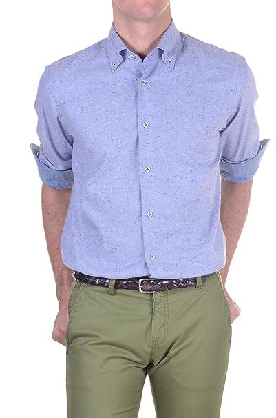 newest 3a50a ea021 Carrel - Camicia Uomo Regular Azzurro 44: Amazon.it ...