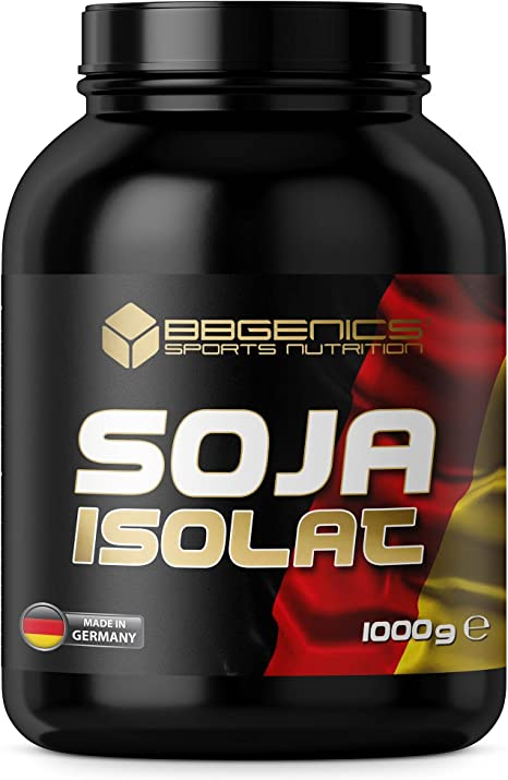 BBGENICS Deutschland - Soja Isolat, proteína en polvo, 1000g chocolate