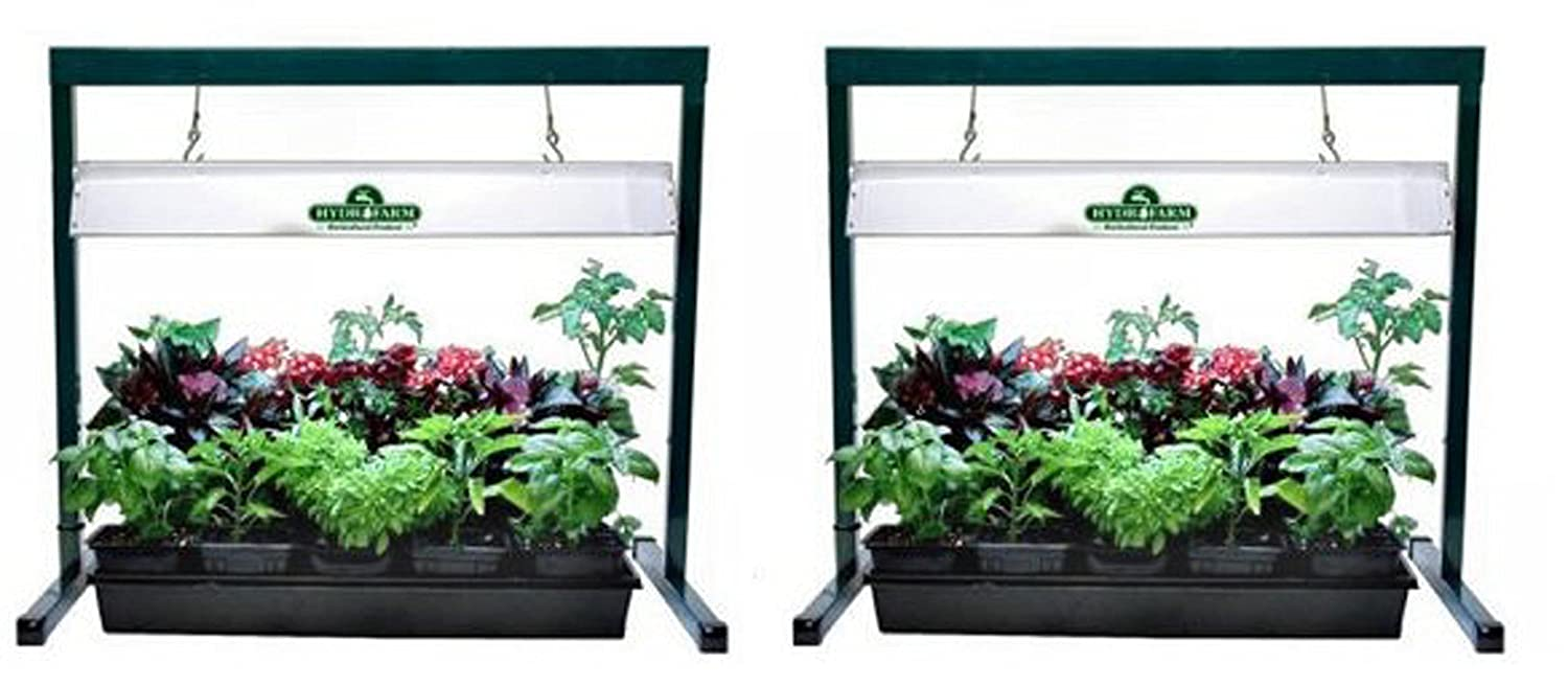 "(2) HYDROFARM JSV2 24"" Jump Start T5 Grow Light Systems 