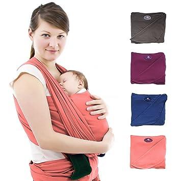 1236f963e8cf Écharpe de portage premium pour bébés et nouveau-nés   Porte-bébé écharpe de