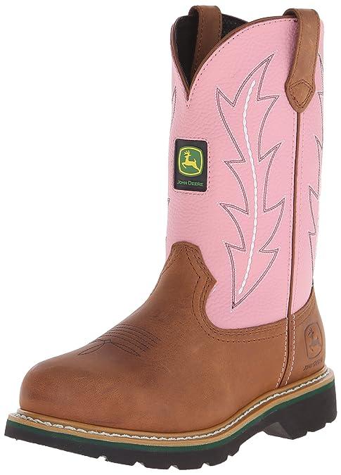 John Deere - Botas Cowboy/Botas de Agua Mujer, Color Rosa, Talla 36