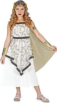 WIDMANN 01875 - Disfraz de diosa griega para niña, blanco y oro ...