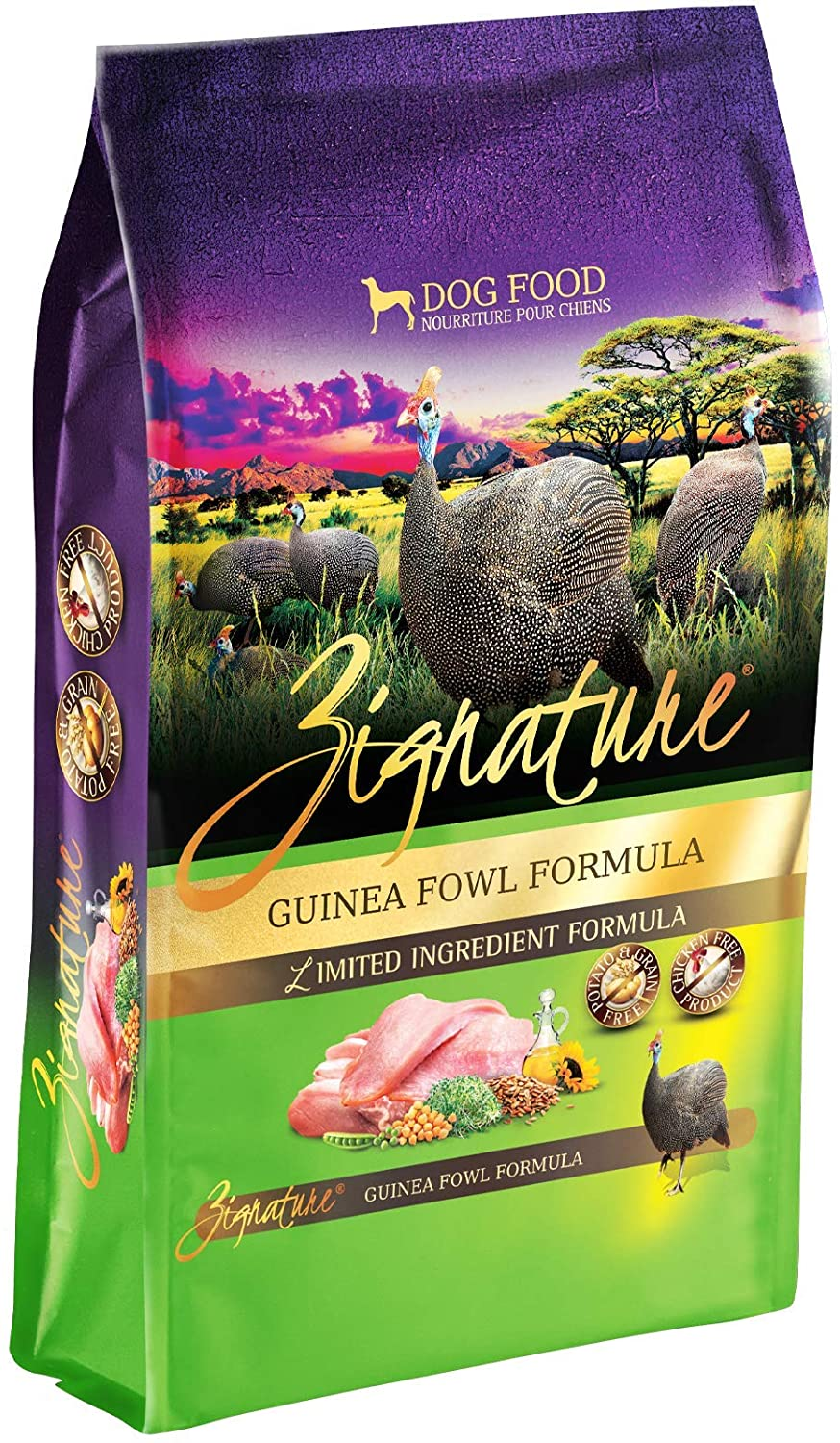 Zignature Guinea Fowl Formula Grain-Free Dry Dog Food 25lb