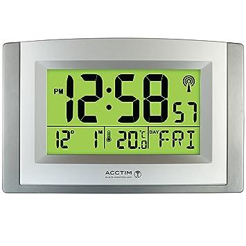 acctim stratus smartlite wall desk clock amazon co uk office products rh amazon co uk