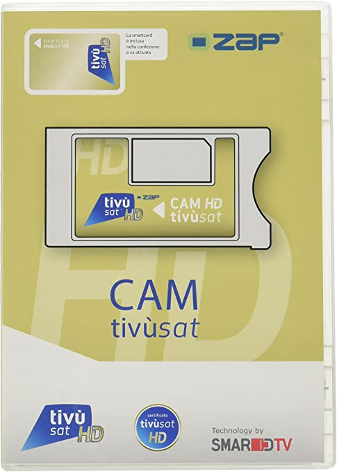 I-Can - Smardtv modulo CAM tivu-Sat + Card smarcam + Tessera Solo x decoder e TV con sintoniz. Satellite: Amazon.es: Electrónica