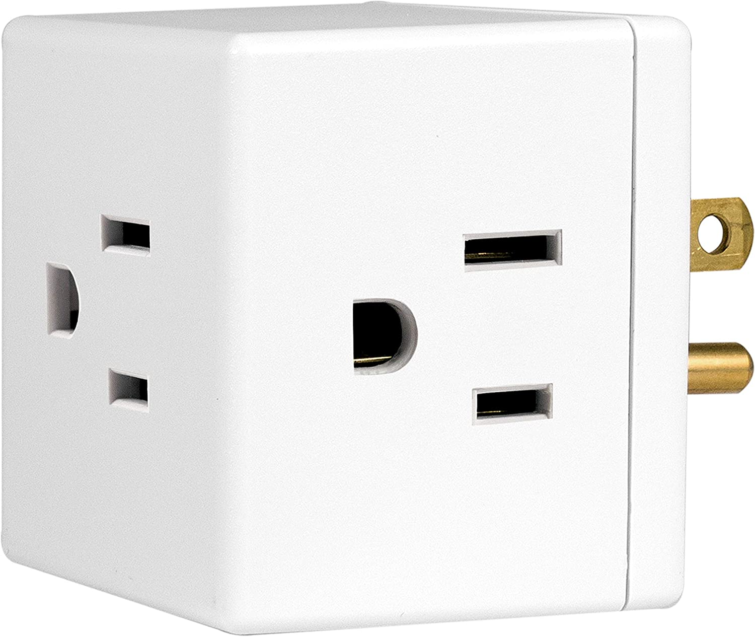 GE Wall Tap, 1, Extra-Wide Adapter Spaced, Easy Access Design, 3 Prong Outlet, Perfect for Travel, UL Listed, White, 58368 - Electrical Multi Outlets -