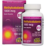 Natural Factors, Vitamin B12 Methylcobalamin 1000 mcg, Chewable Support for Energy and Immune Health, Vegetarian, 180 tablets