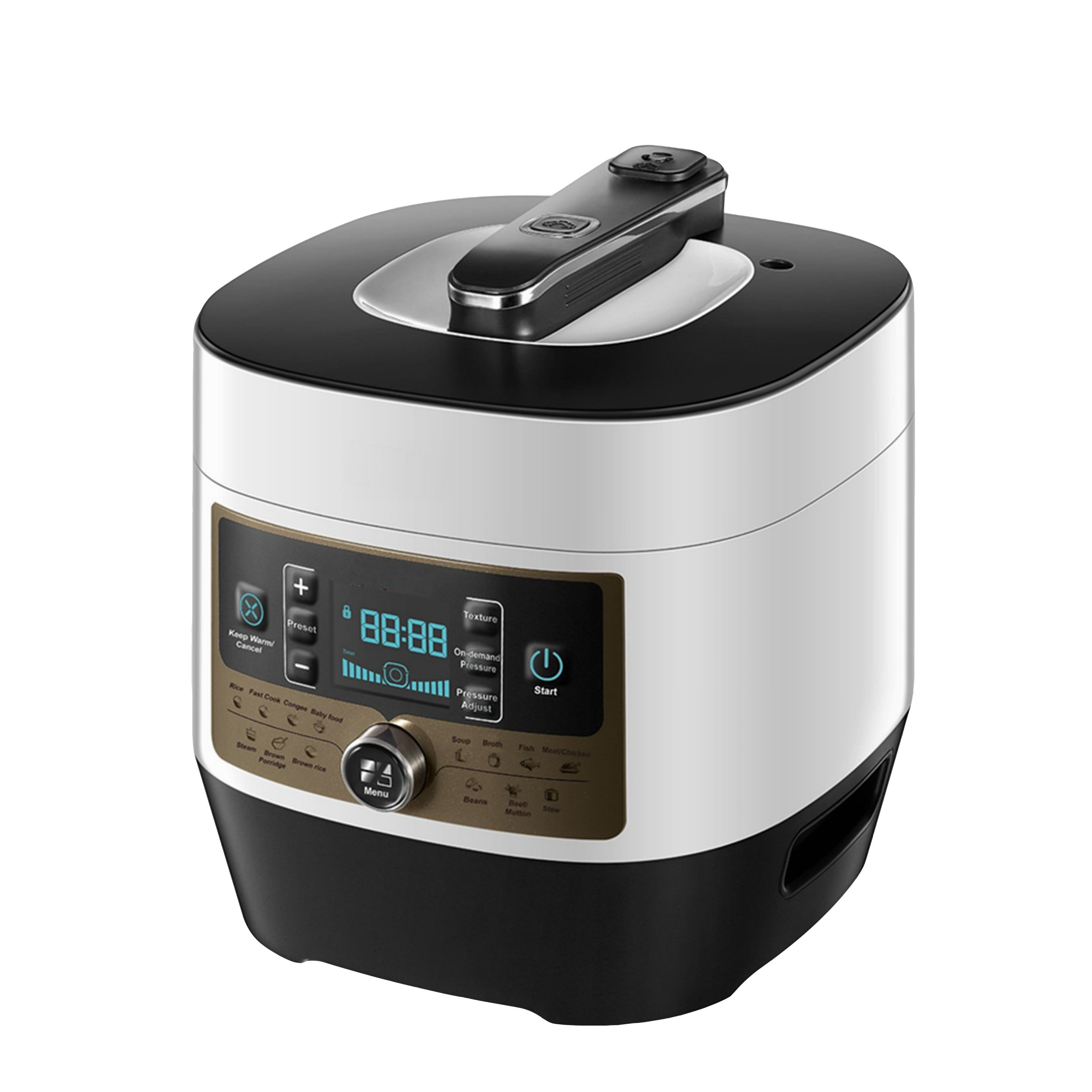 Homevision Technology ECP5014 Multi-Function Pressure Cooker, White